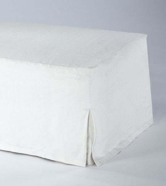 Upholstered Ottoman with Loose Cover by Rose Uniacke_0