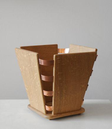 Wood & Copper Bound Wastepaper Bin_1