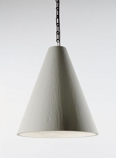 Plaster Cone Hanging Light