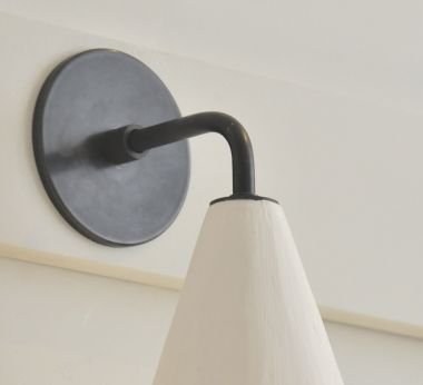 Plaster Cone Wall Light by Rose Uniacke_2