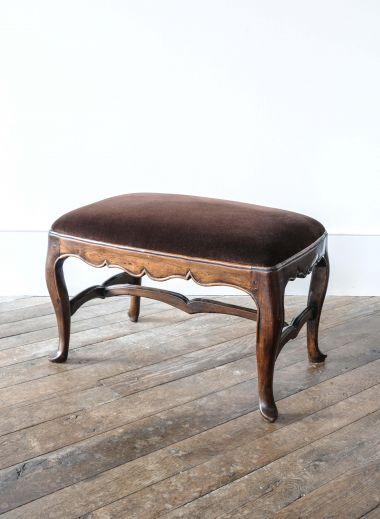 18th Century Spanish Walnut Stool_0