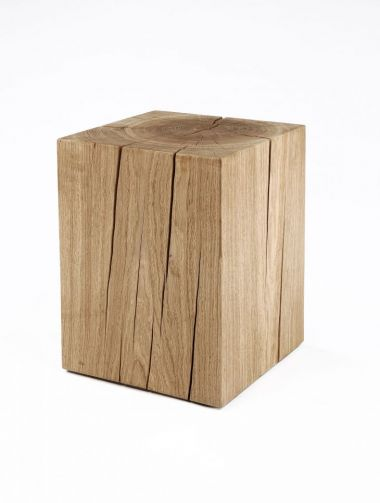Solid Oak Cube Table by Rose Uniacke
