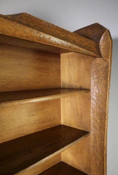 An Anthroposophical Adzed Oak Bookcase_2