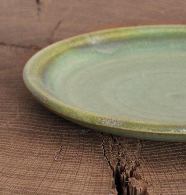 Ceramic Plate in Moss Green_2