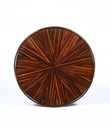Art Deco Tigerwood Occasional Table_1