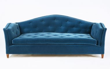 Serpentine Sofa by Rose Uniacke in blue