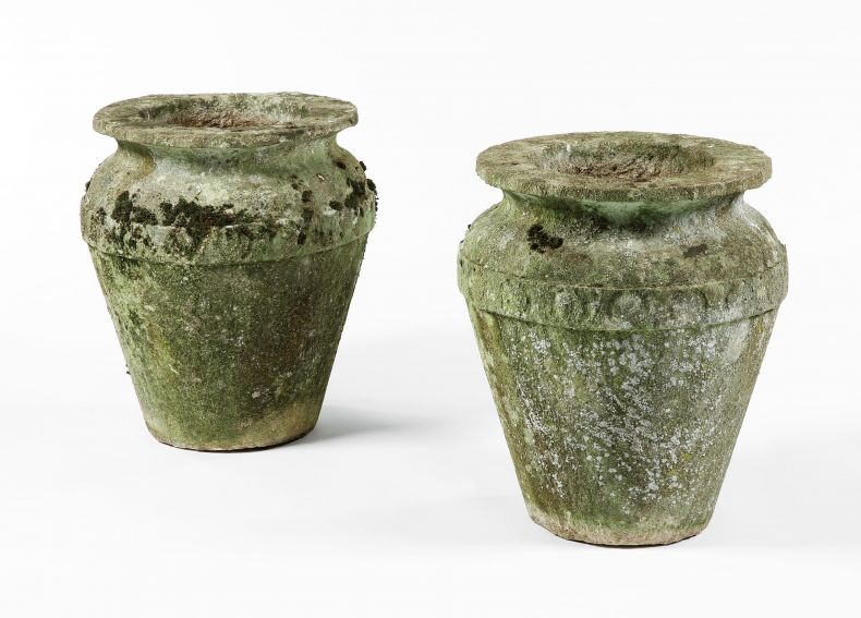 Pair of Cotswold Stone vases_0
