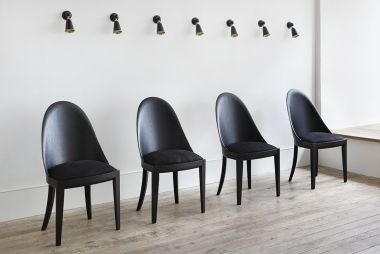 Ebonised Theatre Chair in a row