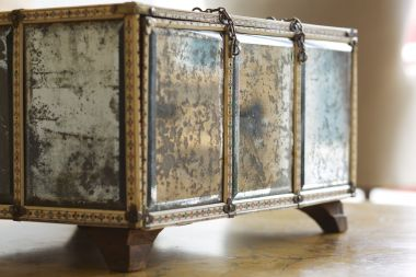 Large Rare 18th Century Mirrored Casket_1