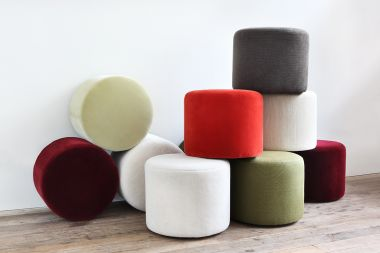 Small Round Ottoman by Rose Uniacke_3
