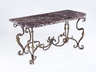 Pair of Spanish 19th Century Wrought Iron Console Tables_3