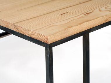 Douglas Fir Patinated Steel Coffee Table_1
