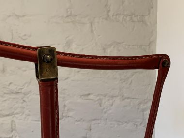 Red Leather Floor Lamp_1