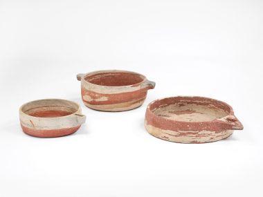 Mughal Period Red Sandstone Handled Vessel_1