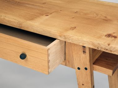 Oak Console Table with Drawers by Rose Unaicke_2