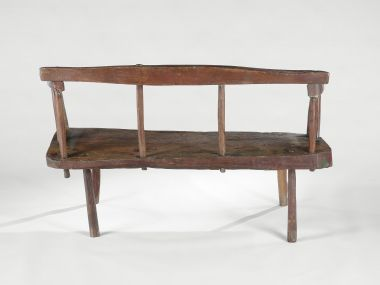 18th Century Rustic Bench or Settle_1