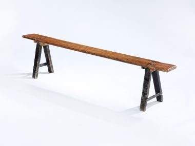19th Century Oak Refectory Bench_1