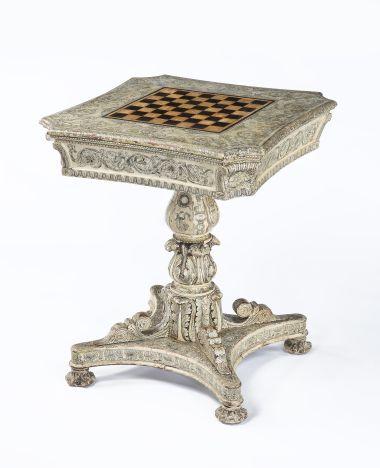 Regency Penwork Games Table_0