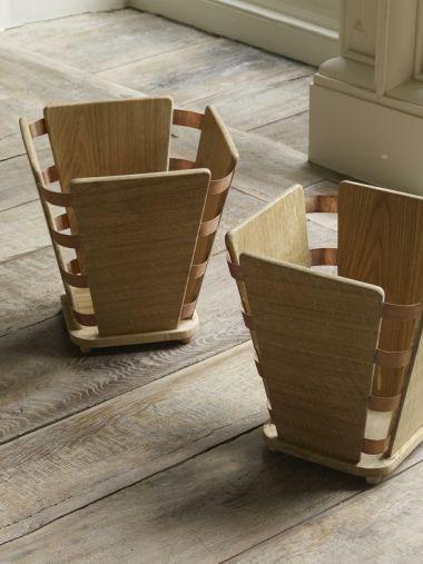 Wood & Copper Bound Wastepaper Bin_0