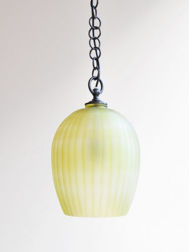 STOCKED - Citrine Glass Lantern with ribbed cutting_1