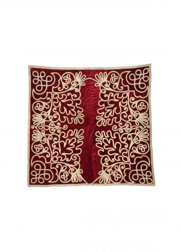 Antique 19th Century Scarlet Velvet Wall Hanging