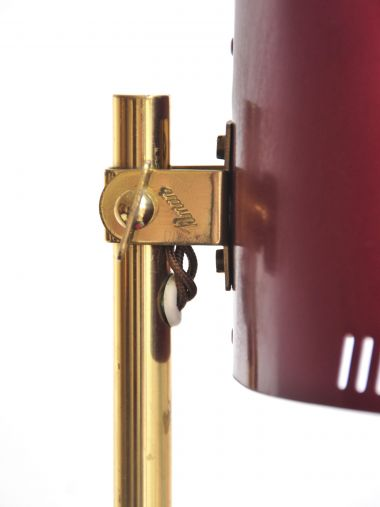 Pair of Red Metal Table Lamps by Paavo Tynell_2