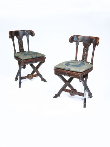 Pair of Side Chairs in the manner of A.W.N. Pugin_0