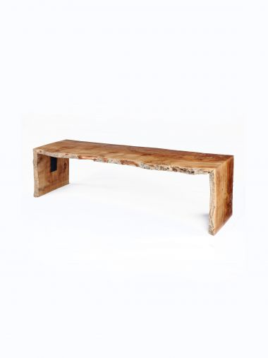 Waney Edge Oak Bench in Pippy Oak_1