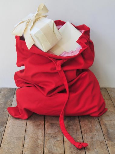 Christmas Sack Red Wool_3