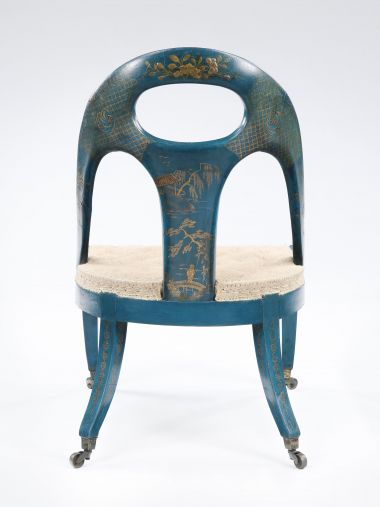 Pair of Late Regency Chinoiserie Library Chairs_1