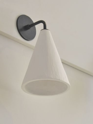 Plaster Cone Wall Light by Rose Uniacke_1
