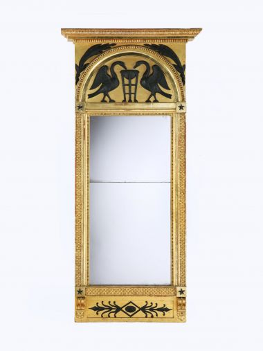 Empire Carved Giltwood Mirror_0