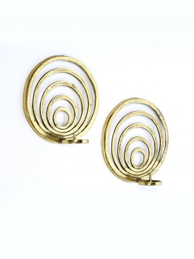 1950's Brass 'Concentric' Wall Sconces_0