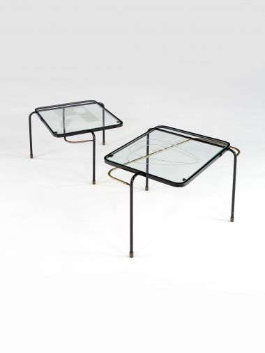 Pair of Nesting Tables by Mathieu Mategot_0