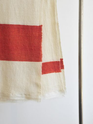 Orange Stripe Cashmere Blanket_1