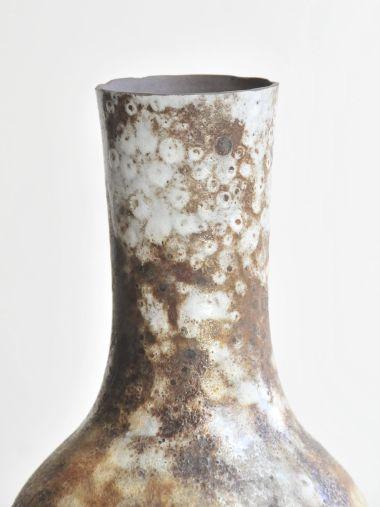 1950's Tall 'Vallauris' Stoneware Vase_1