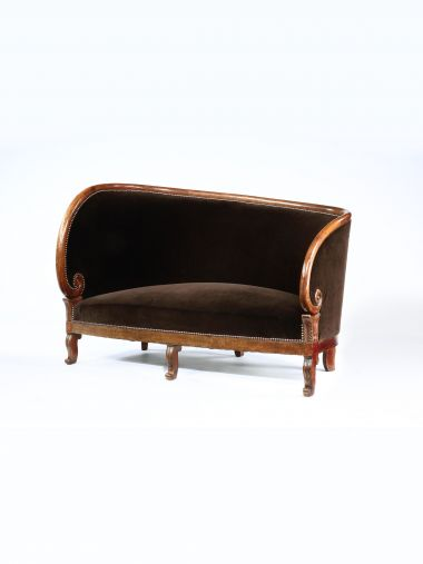Charles X Upholstered Mahogany Settee_0