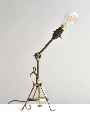 Arts & Crafts Brass Table Lamp_0