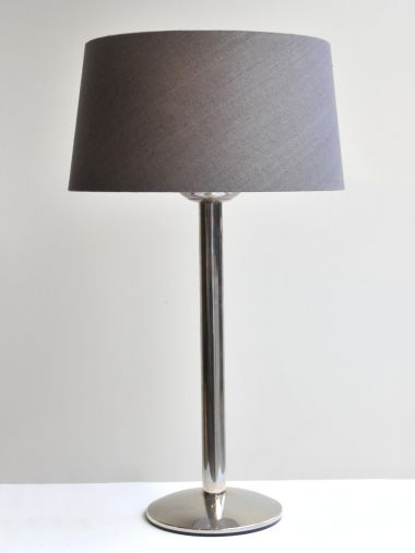 Pair of Large Polished Steel 'Prototype' Table Lamps_0