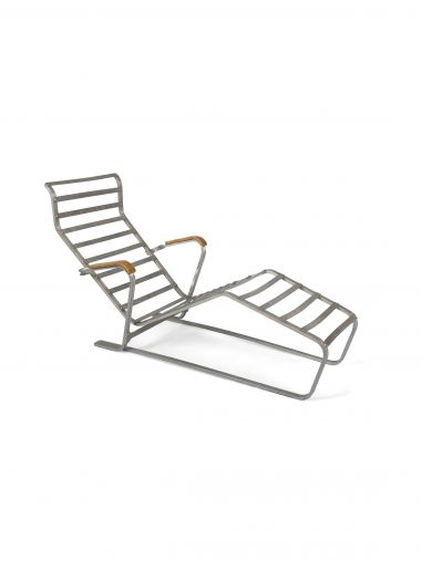Rare Slatted Lounge Chair & Sling Base_0