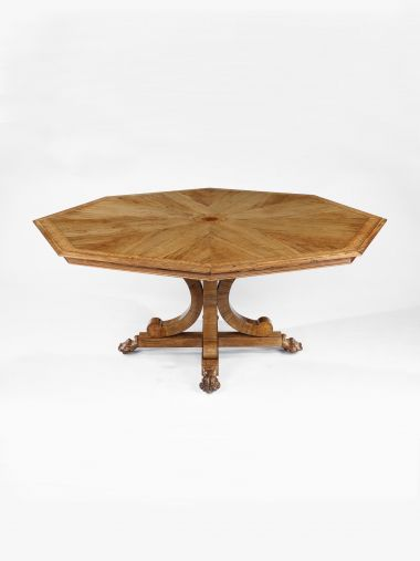 William IV Marquetry Octagonal Centre Table_0