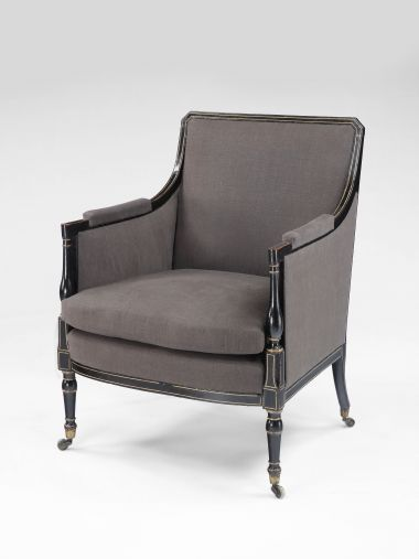 Regency Painted & Parcel Gilt Armchair_0