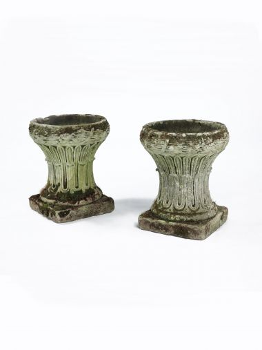 Pair of Regency Period Cotswolds Stone Urns_0