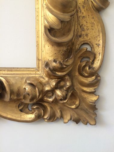 Early 18th Century Oversized Giltwood Mirror Frame_0