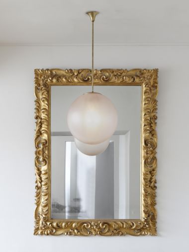 Large Early 18th Century Giltwood Mirror_1