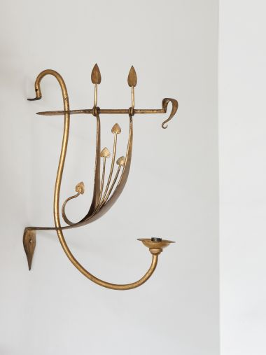 Set of Four Arts & Crafts Gilded Wall Lights_0