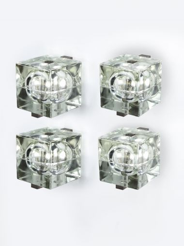 Set of Four Cubosfera Wall Lights