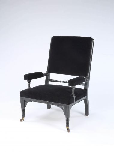 Ebonised Aesthetic Movement Armchair_0