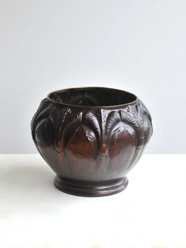 Art Nouveau Copper Cache Pot_2