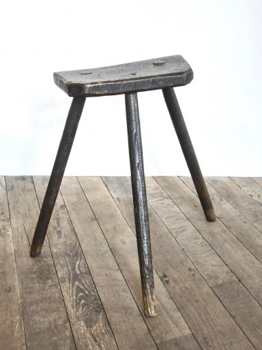 19th Century Ash & Elm Cutler's Stool_1
